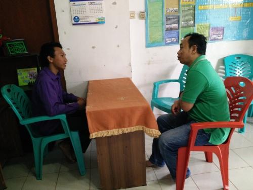 Diskusi dengan pengurus yayasan