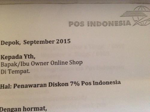 Penawaran Kerjasama dari PT POS INDONESIA
